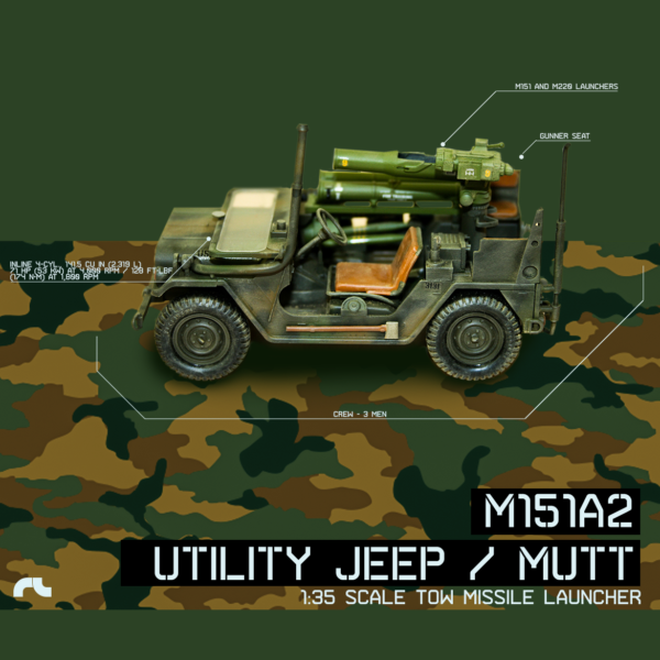 AF Diorama - M151A2 TOW Missile Launcher 1-35