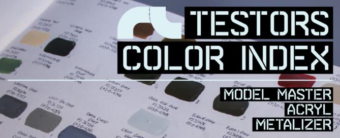 Testors Color Index